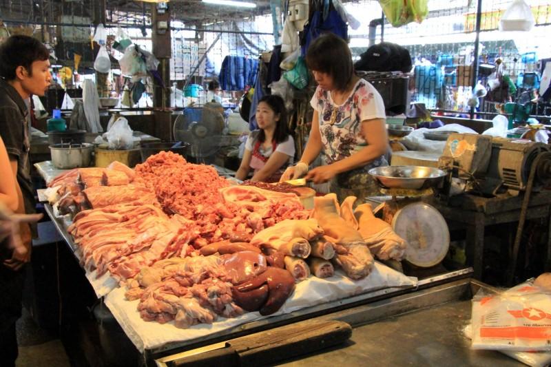 Besuch eines Marktes bevors mit dem kochen losging