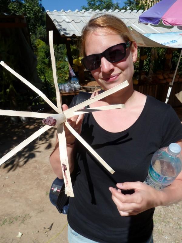 Bambus Sticky-Rice, eine beliebte Zwischenmahlzeit