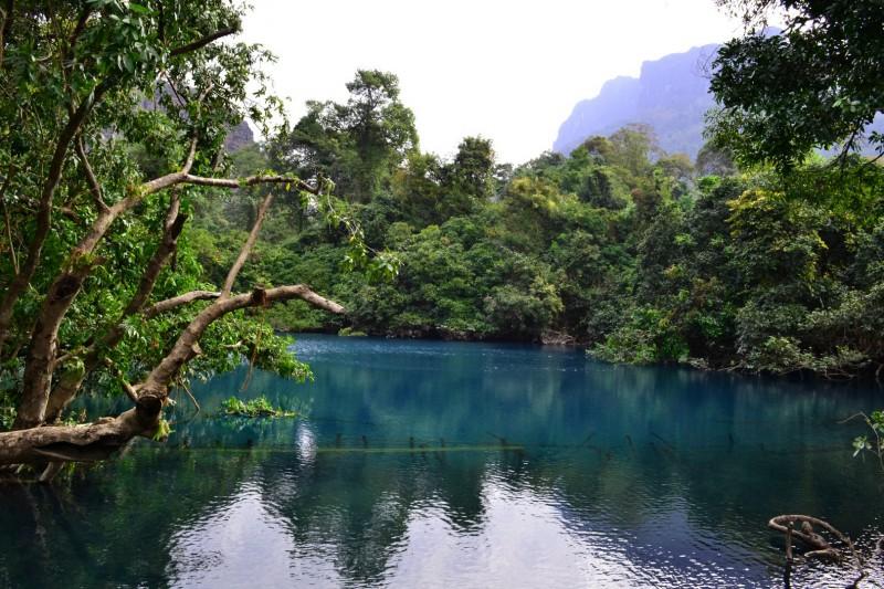 Wunderschöne blaue Lagune
