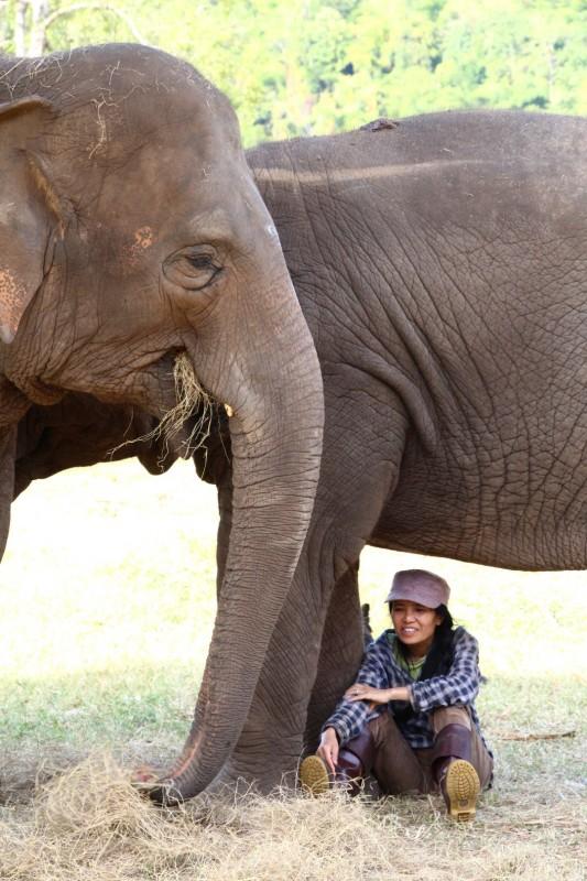 Die Besitzerin des Elephant Nature Parks