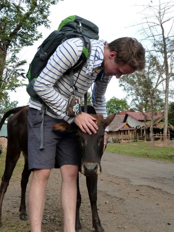 Fabian freundet sich mit allen Tieren an