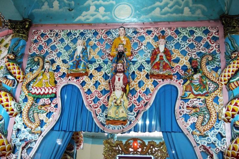 Tempel der Anhänger der Cao Dai Kirche.