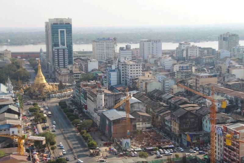 Yangon von oben