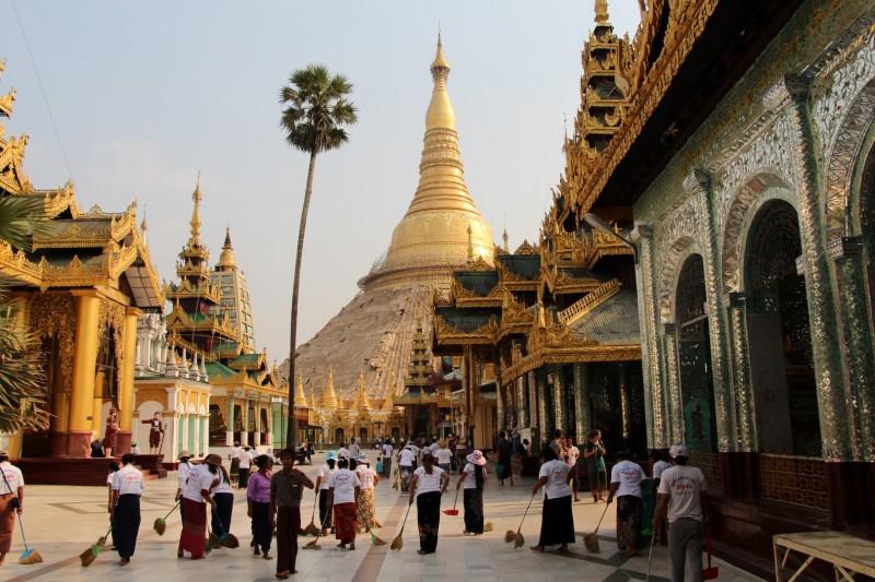 Shwedagon Pagode - Die wohl berühmteste Pagode der Welt.