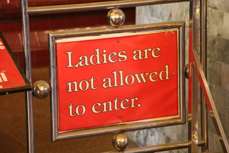 Gewisse Bereiche in einzelnen Tempel sind für Frauen nicht zugänglich.