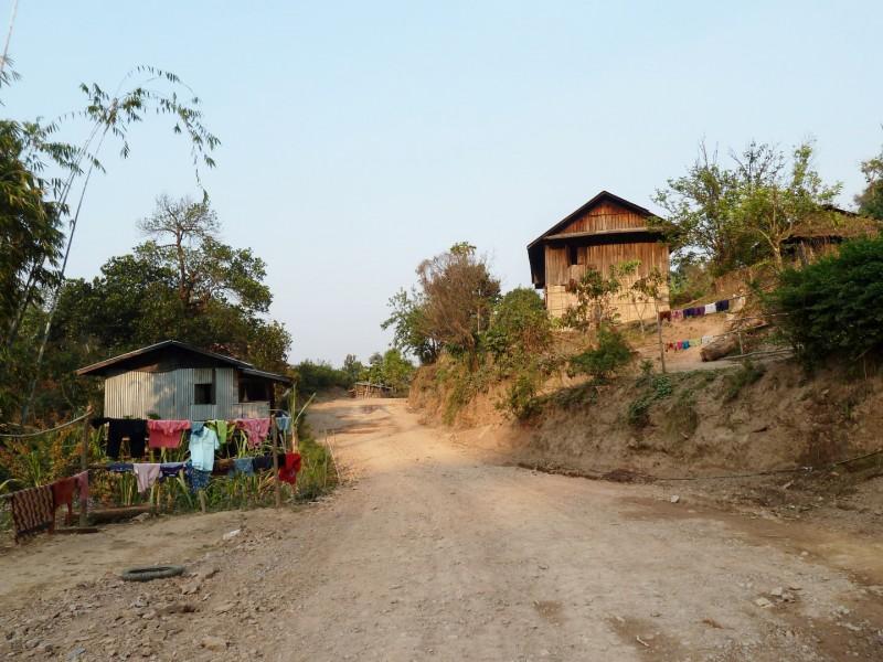 Das Dorf hat 35 Häusern, hier waren wir im Homestay.