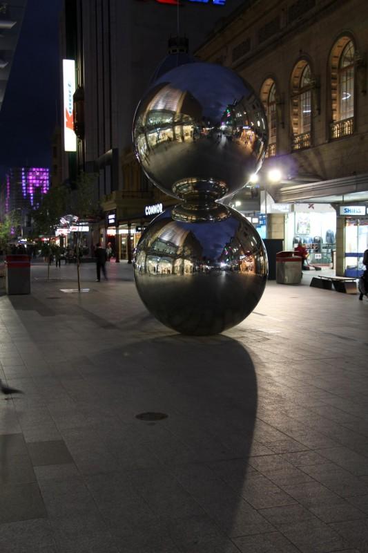 Adelaide CBD bei Nacht