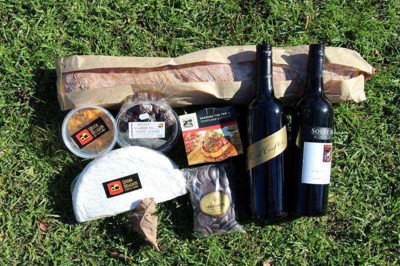 Unsere Gourmet-Ausbeute in der brühmten Barossa-Weinregion.