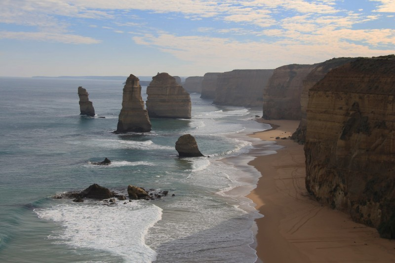 """Twelve Apostels entlang der Great Ocean Road. Fast die Hälfte der """"Apostels"""" steht aber nicht mehr"""