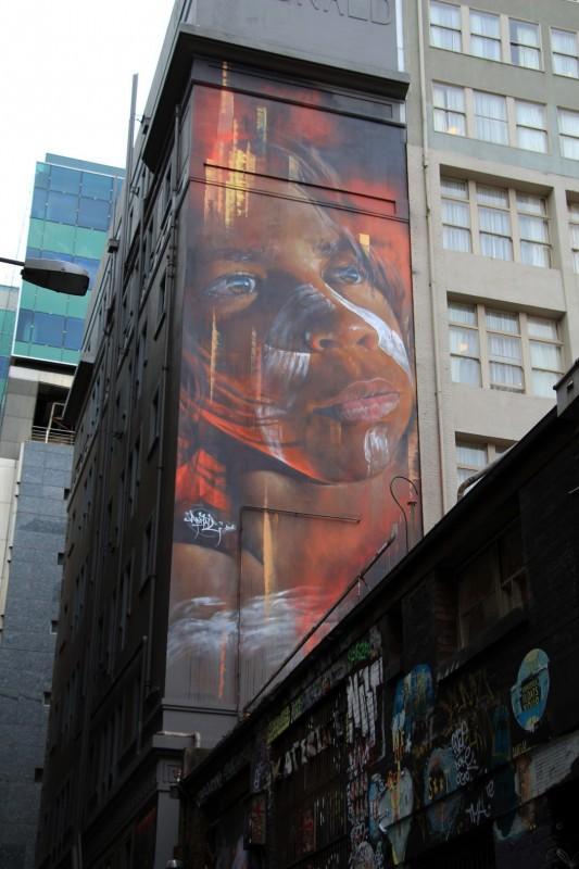 Grossartige Graffitis sind in der ganzen Stadt verteilt. Aber dies ist der absolute hammer.