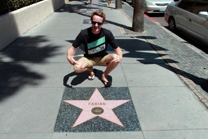 Natürlich haben wir auch unser eigenen Stern auf dem Walk of Fame.