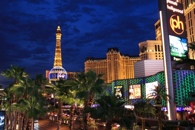 """Pariser Viertel auf dem """"Strip"""" von Las Vegas"""