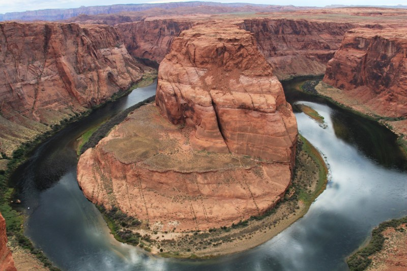 Horseshoe Bend - 270° Kurve vom Colorado River (Das Flüssli, das durch den Grand Canyon fliesst)