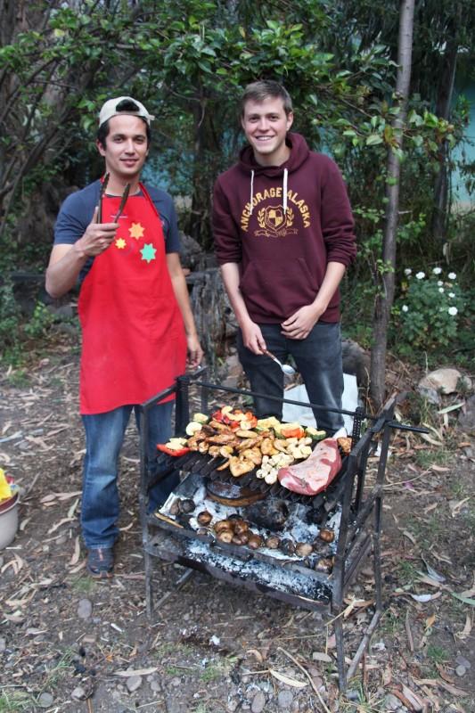 Unsere Grillmeister Christian und Marius in Calca