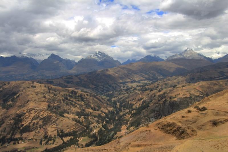 Blick auf die Bergkette Cordillera Blanca