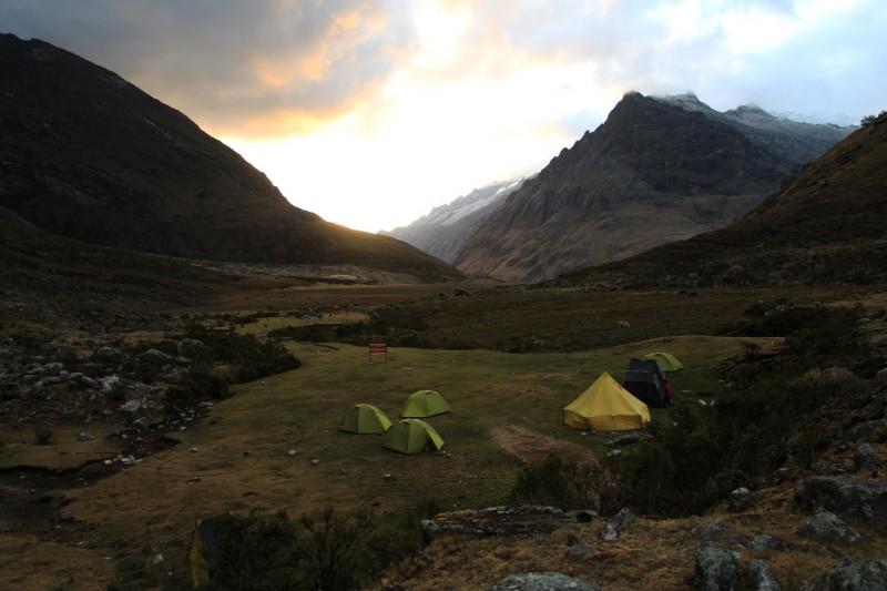 Von unseren Zeltplätzen hatten wir immer die beste Aussicht.