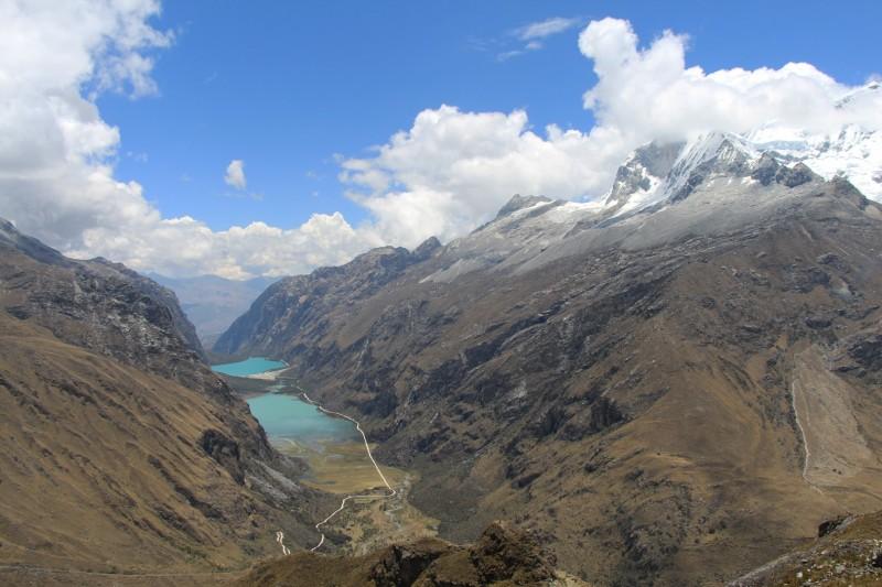 Nach der Wanderung fuhren wir über einen anderen Pass (4800m.ü.M), wo man die Sicht auf ein anderes Tal hat.