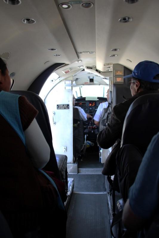 Sicht auf das Cockpit