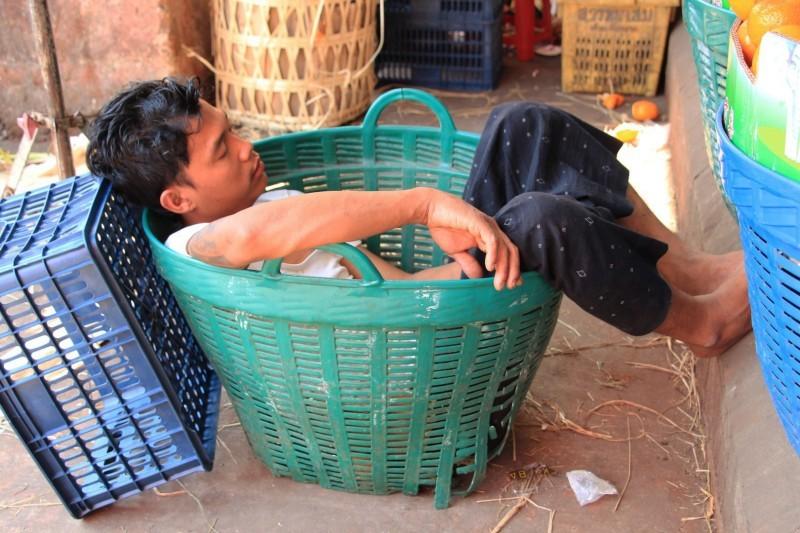 Auch dieser Typ hatte heiss (Bild aufgenommen in Myanmar)